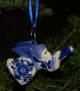 Trumpeting Angel Ornament Delfts