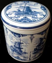 Wafer Box -- Windmills -- Delft Blue