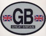 Oval Reflective Decal -- Great Britain