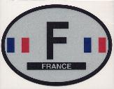 Oval Reflective Decal -- France