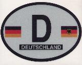 Oval Reflective Decal -- Germany