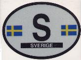 Oval Reflective Decal -- Sweden