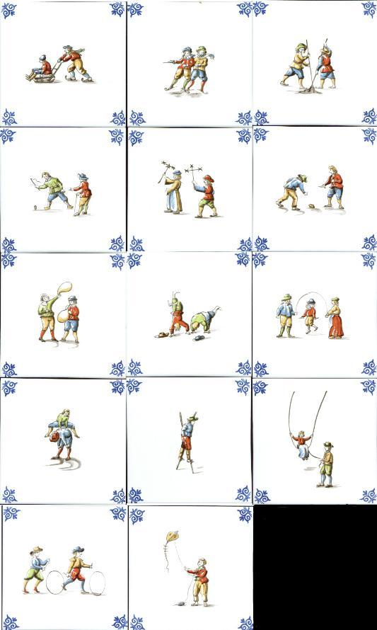 "5"" Children Playing Tile Price Each"