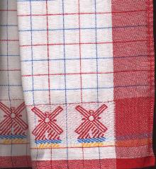 Tea Towel Red  100 % Cotton