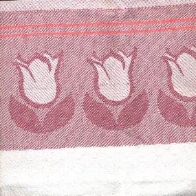 Tea Towel Tulips Red