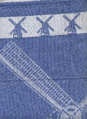 Tea Towel - Large Windmill with Windmill Border 65X60cm 25X23 in