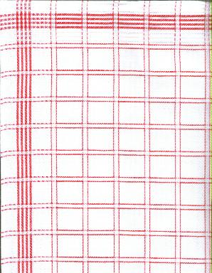 Tea Towel NL Color Red 100% Cotton