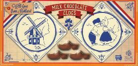 Steenland Klompjes --  Milk Chocolate Wooden Shoes 90g