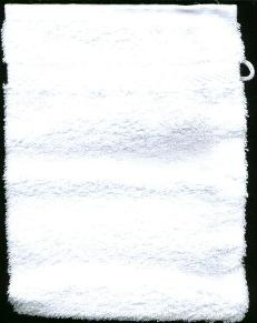 Washandje Wit -- Wash cloth mit white