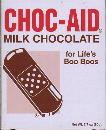 Choc-Aid -- for life's Boo Boo's -- Milk Chocolate -- 80g